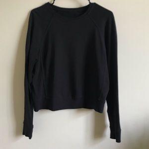 Simple Black Luluemon Pullover